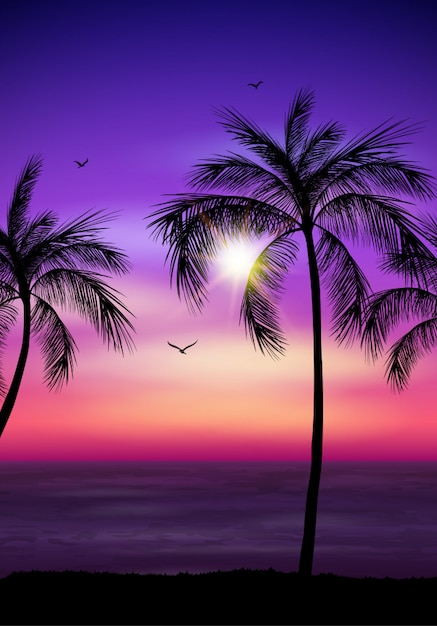 Palme silhouette Premium Vektoren
