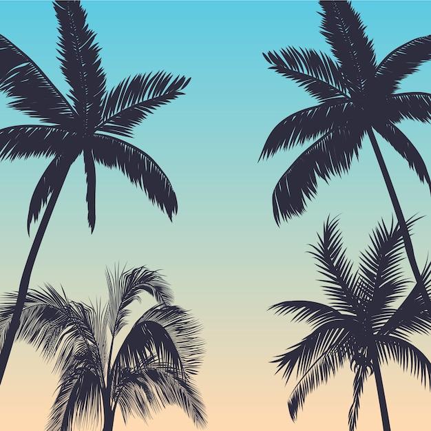 Palmen hintergrund Premium Vektoren