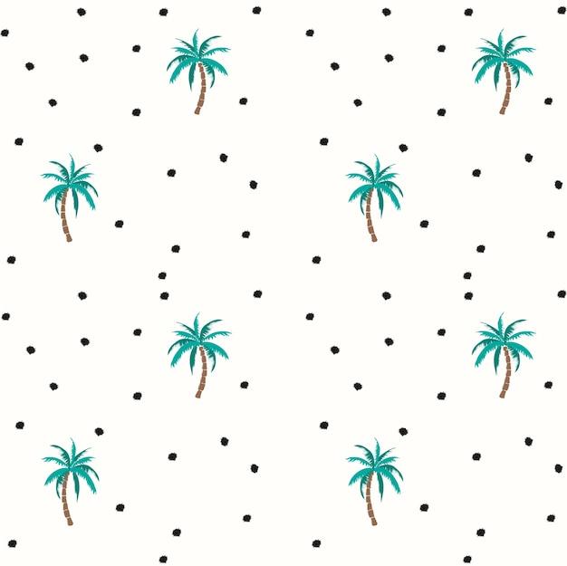Palmen und Kokosnüsse vector nahtloses Muster | Download der Premium ...