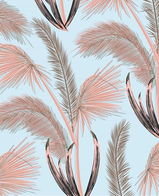 Palmenmuster Premium Vektoren