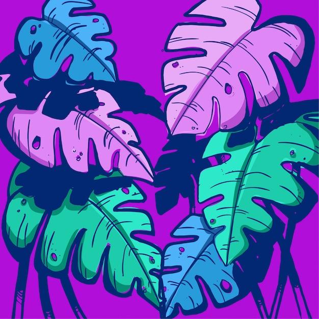 Palmfarben Premium Vektoren