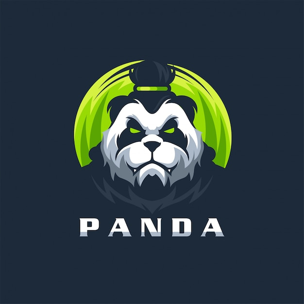 Panda logo design vektor illustration vorlage gebrauchsfertig Premium Vektoren
