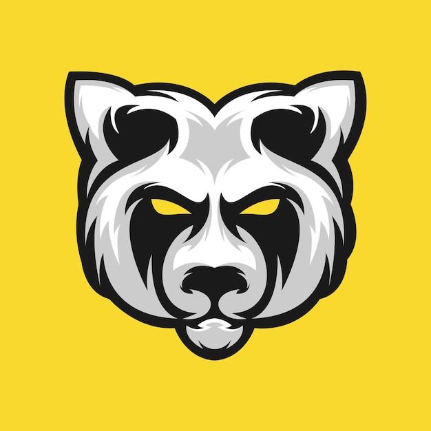 Panda-logo-design-vektor-illustration Premium Vektoren