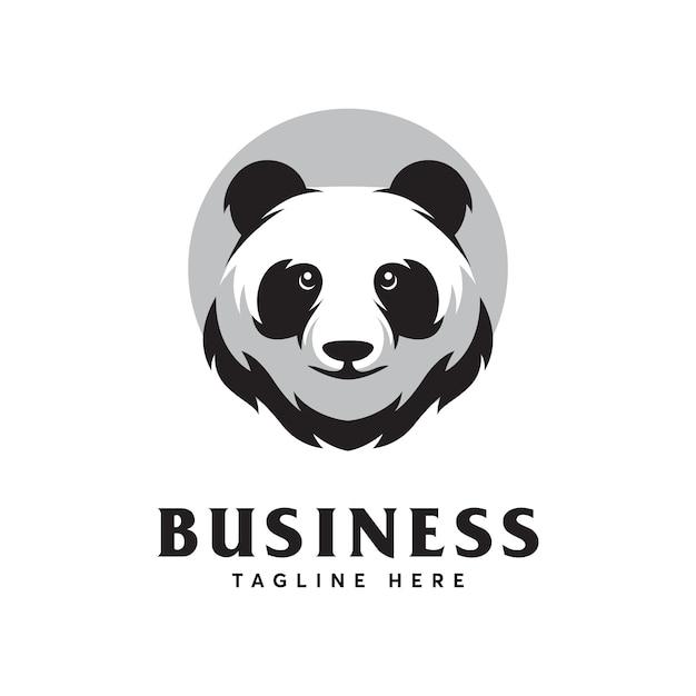 Panda logo design-vorlage Premium Vektoren