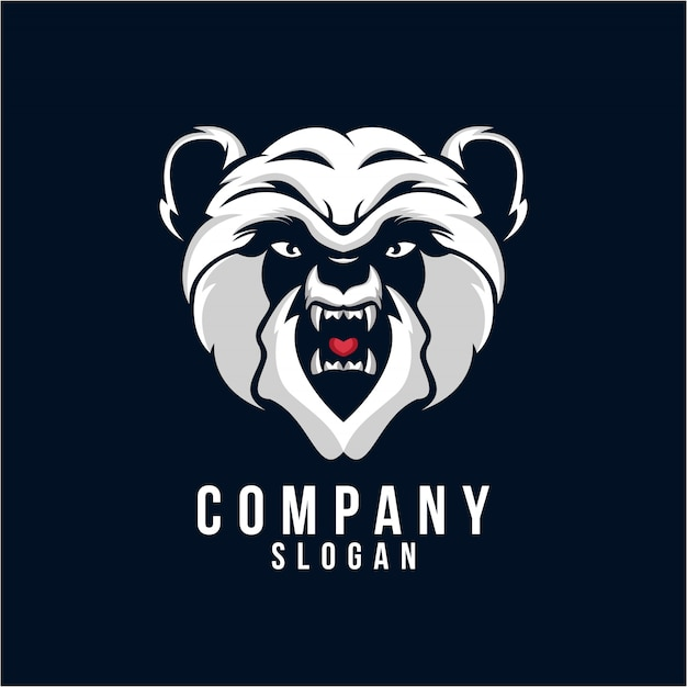 Panda-logo-design Premium Vektoren