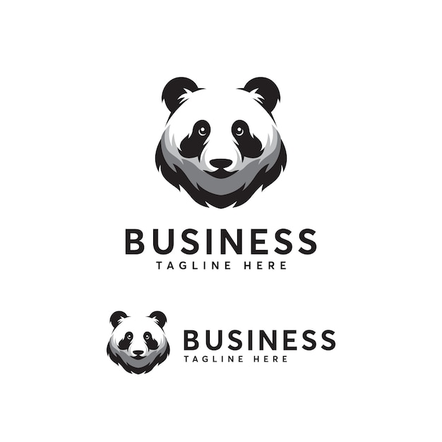 Panda logo vorlage Premium Vektoren