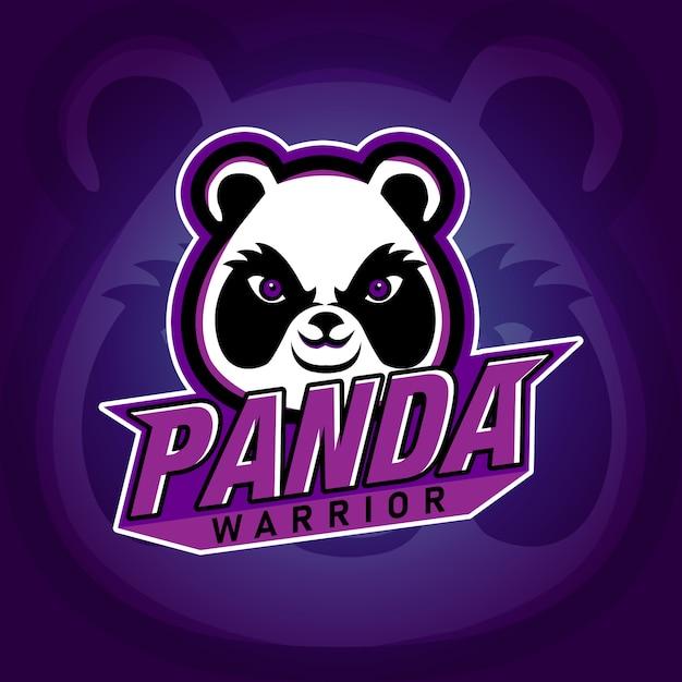 Panda warrior e sport-gaming-logo Premium Vektoren