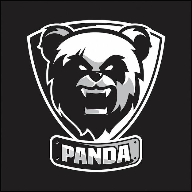 Pandakopf-logo Premium Vektoren