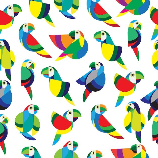 Papagei nahtlose muster Premium Vektoren