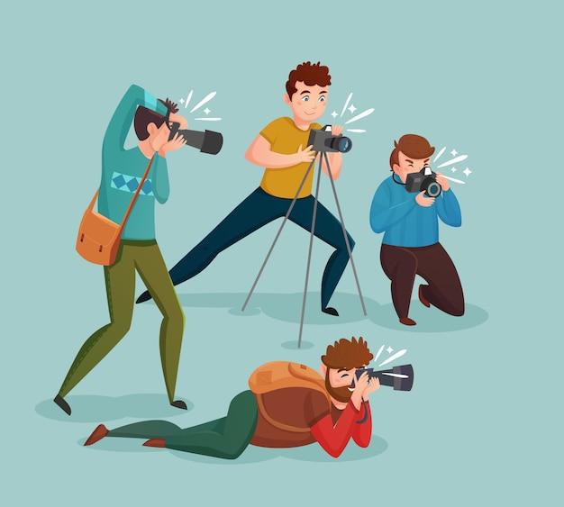 Paparazzi-konzept Kostenlosen Vektoren