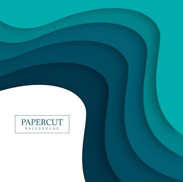 Papercut bunte welle design illustration Kostenlosen Vektoren