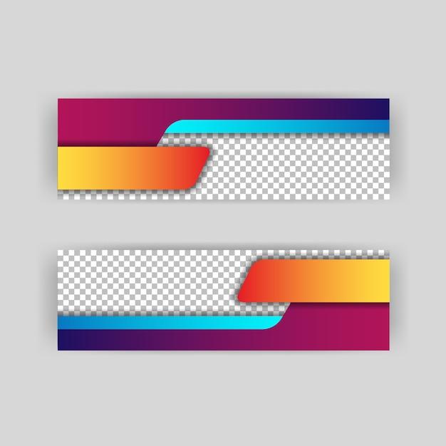 Papercut hintergrund layout von headern und banner Premium Vektoren