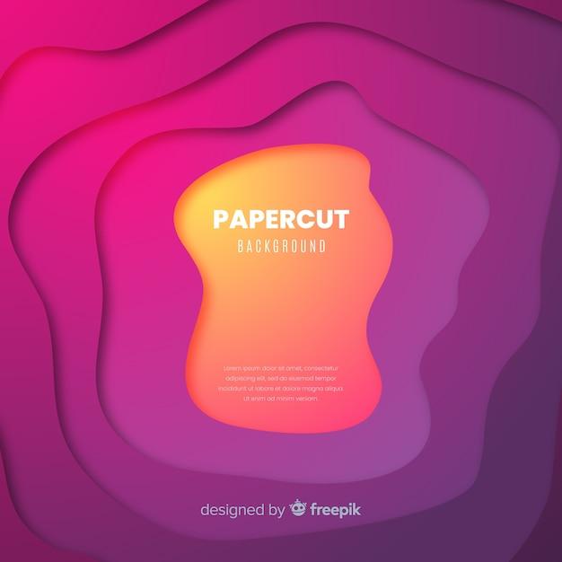 Papercut hintergrund Kostenlosen Vektoren