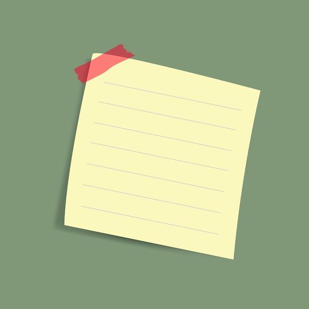 Papier-anmerkungsvektor der leeren gelben anzeige Kostenlosen Vektoren