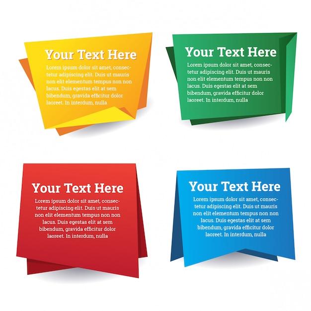 Papier banner rede design-set Premium Vektoren