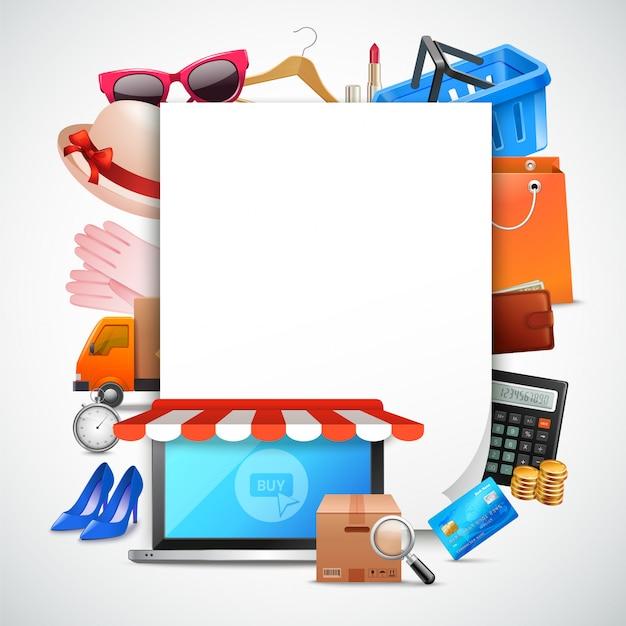 Papier blatt zusammensetzung einkaufen Kostenlosen Vektoren