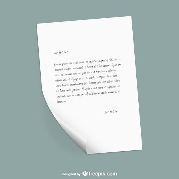 Papier Briefvorlage Download Der Kostenlosen Vektor