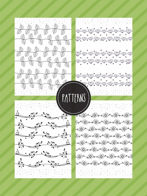 Papier nahtlose Muster Rahmen Dill Pin | Download der kostenlosen Vektor