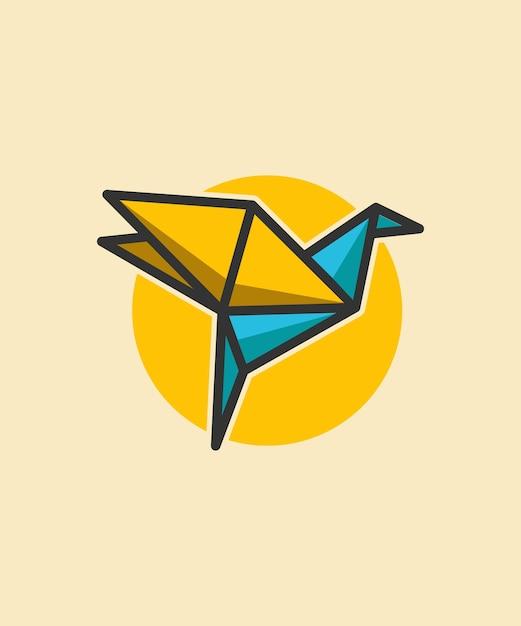 Papier vogel abbildung Premium Vektoren
