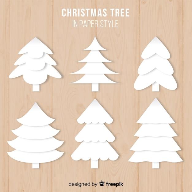 Papier-weihnachtsbaum-sammlung Kostenlosen Vektoren
