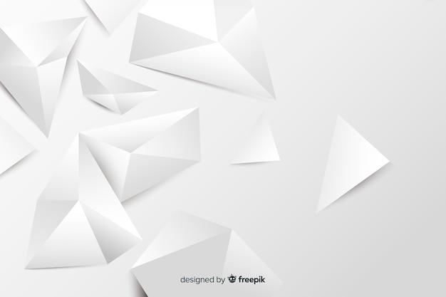 Papierart geometrische modelle hintergrund Kostenlosen Vektoren