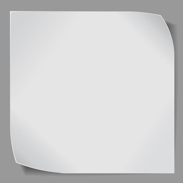 Papieraufkleber über grauem hintergrund Premium Vektoren