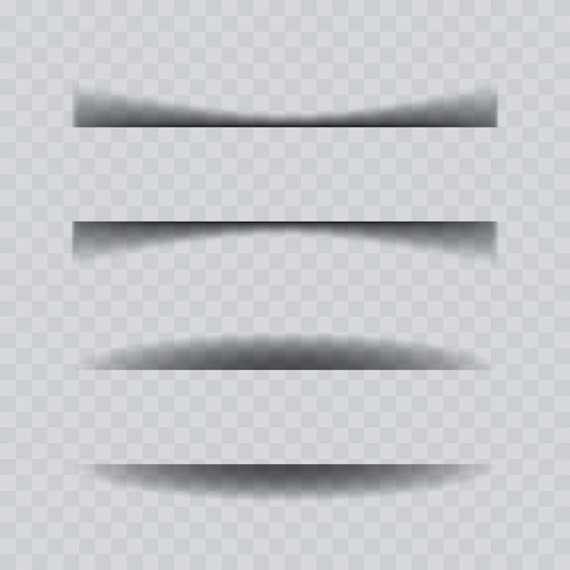 Papierblatt-schatteneffektsammlung. Premium Vektoren