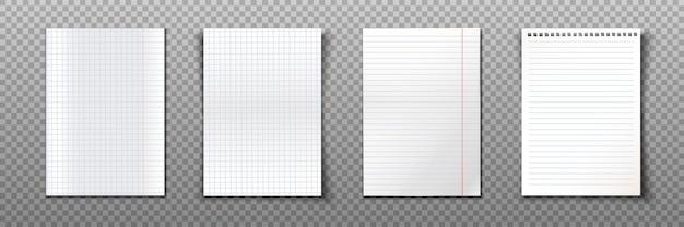 Papierblattsammlung im a4-format. Kostenlosen Vektoren