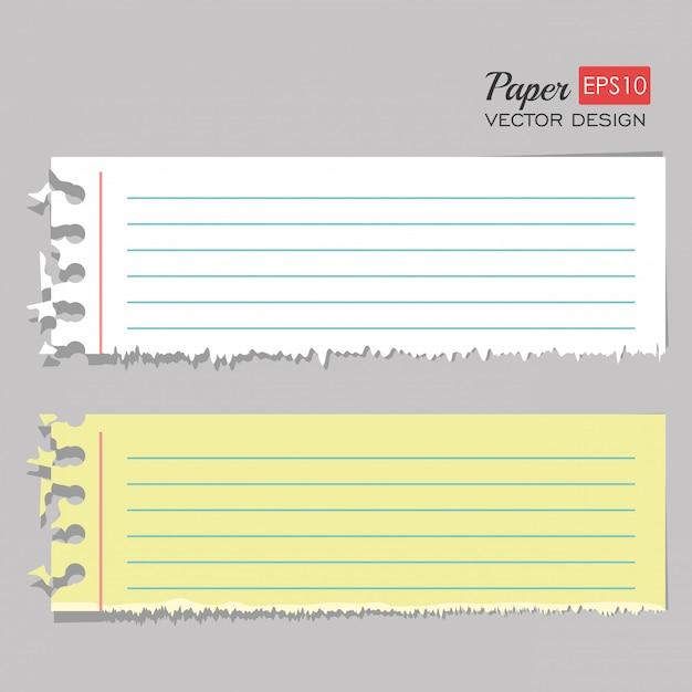 Papierblattsatz Kostenlosen Vektoren