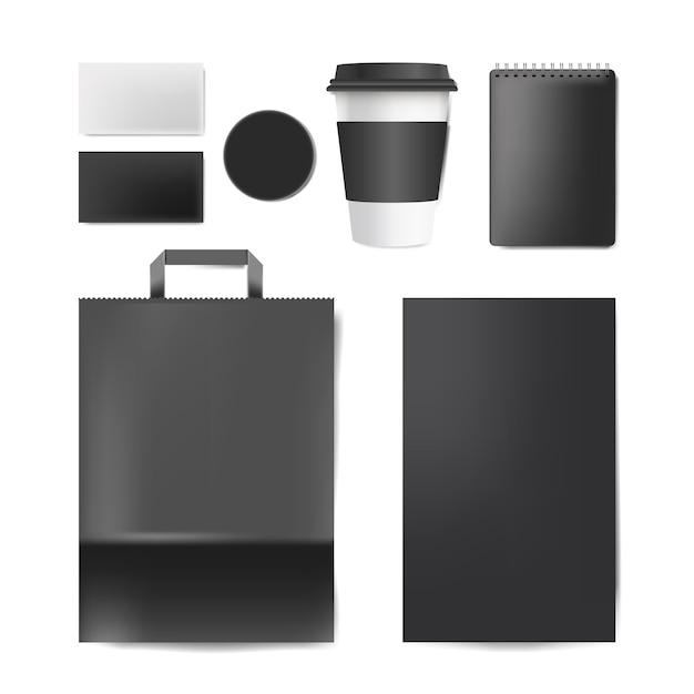 Papierbrandingmodell-vektorsatz Kostenlosen Vektoren