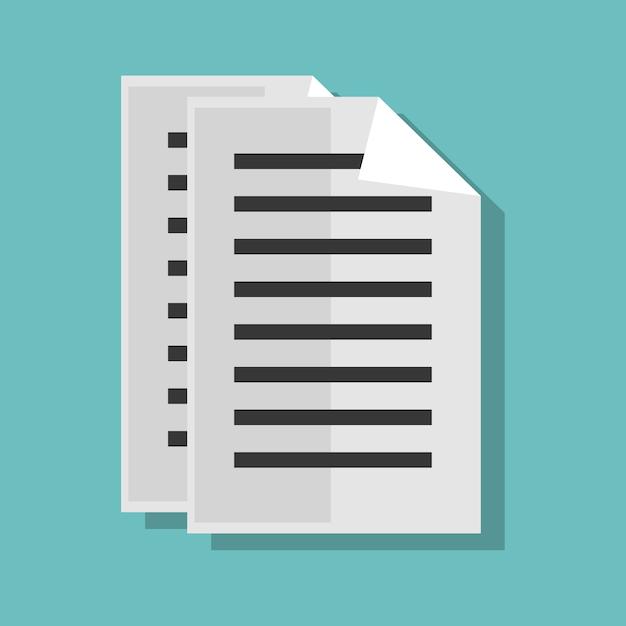 Papierdokumentenakte lokalisierte ikonenvektor-illustrationsdesign Premium Vektoren