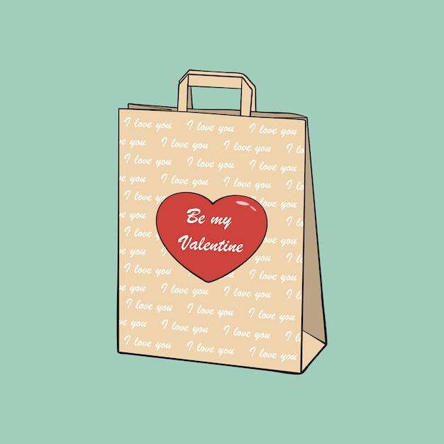 Papiereinkaufstasche Premium Vektoren