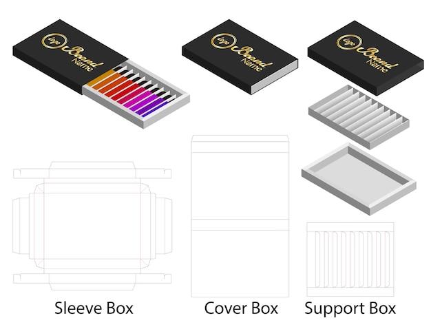 Papierform für lippenstifte Premium Vektoren