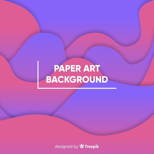 Papierkunst hintergrund Kostenlosen Vektoren
