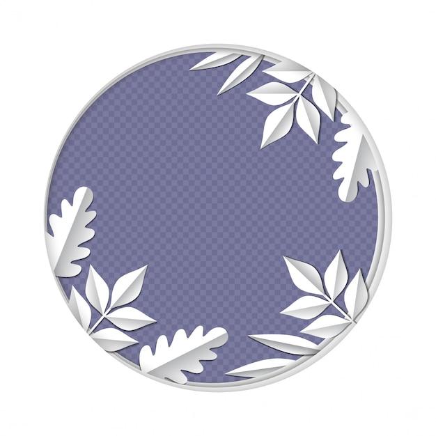 Papierkunst schnitzen, um von den verschiedenen blättern und von betriebsniederlassungen im lokalisierten wald zu gestalten Premium Vektoren
