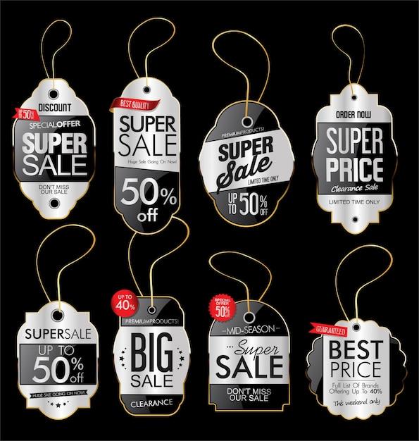 Papierpreisschild Premium Vektoren