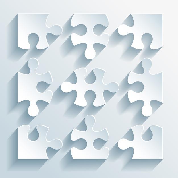 Papierrätsel vektor-illustration Kostenlosen Vektoren