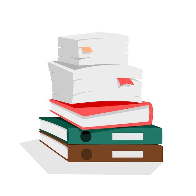 Papierstapel Premium Vektoren