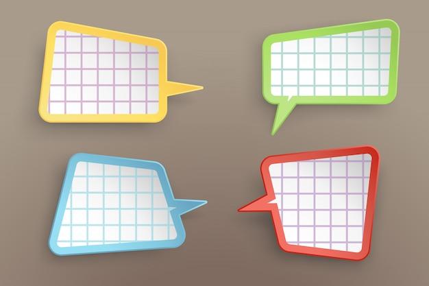 Papierzelle Premium Vektoren