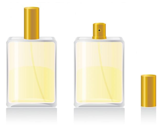 Parfüme in der flaschenvektorillustration Premium Vektoren