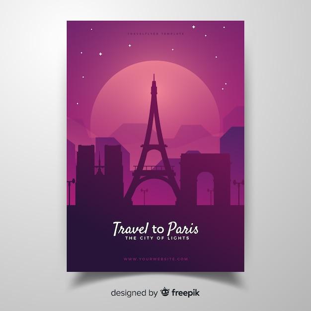 Paris-flyer Kostenlosen Vektoren