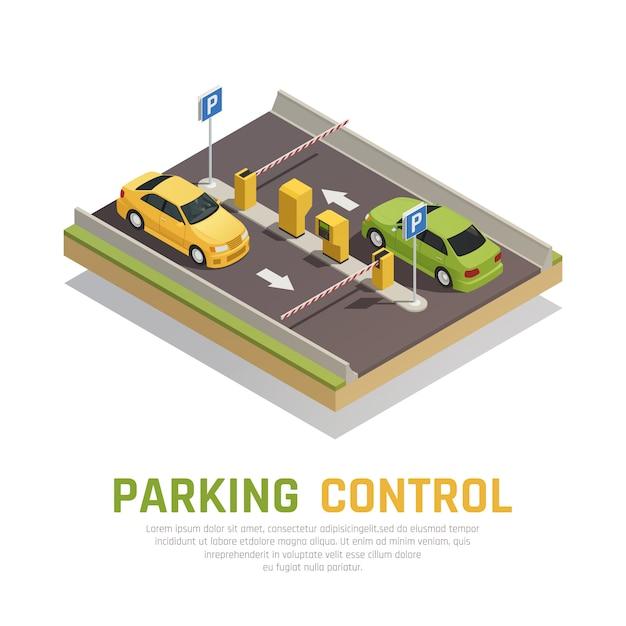 Parken-torsteuerung Kostenlosen Vektoren