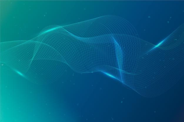Partikel-hintergrund mit farbverlauf Kostenlosen Vektoren