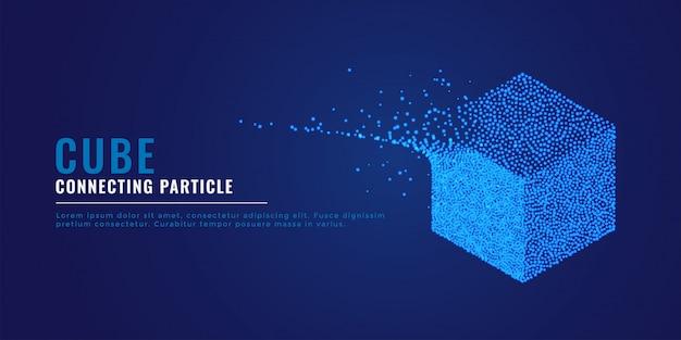 Partikelsystemhintergrund des würfels 3d Kostenlosen Vektoren