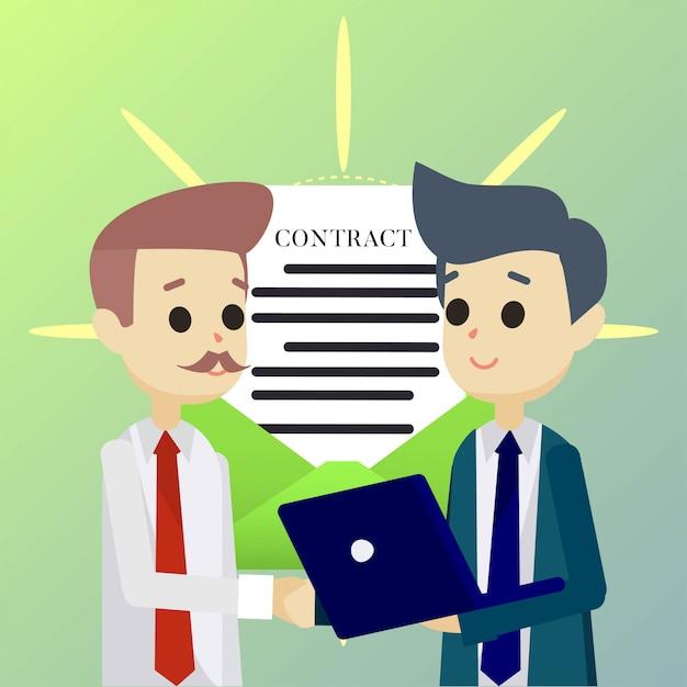 Partner deal abbildung Premium Vektoren