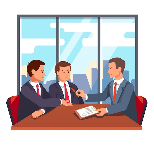 Partnerschaftsabwicklung und abschlussverhandlungen Kostenlosen Vektoren