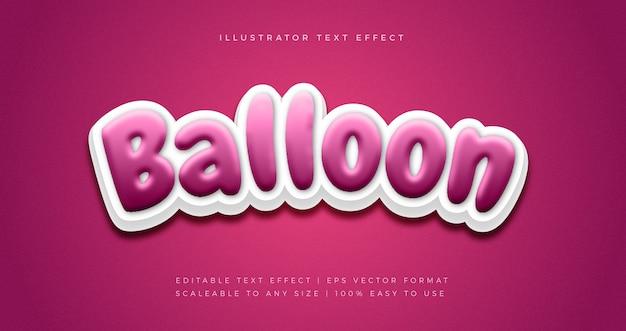 Party ballon text style schriftart effekt Premium Vektoren