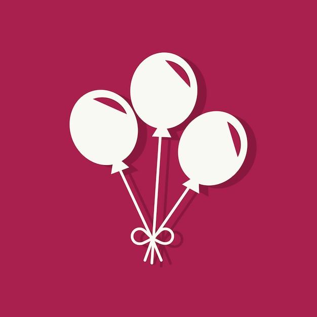 Party ballons valentinstag-symbol Kostenlosen Vektoren