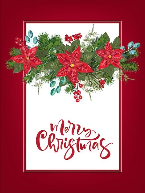 Party einladung der frohen weihnachten und guten rutsch ins neue jahr-party einladungs-karte Premium Vektoren