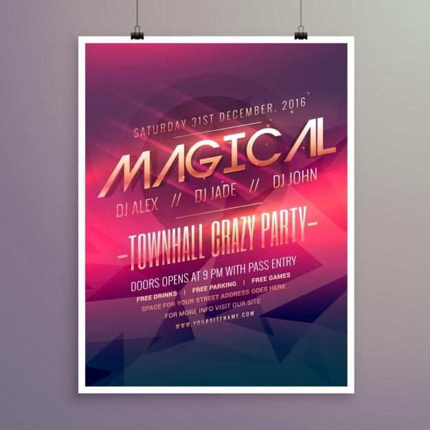 Party-Flyer Einladung Vorlage mit lila Farbe Thema | Download der ...